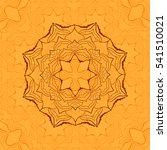 outline mandala for coloring... | Shutterstock .eps vector #541510021