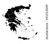 black map of greece   Shutterstock .eps vector #541512049