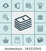 set of 12 e commerce icons.... | Shutterstock .eps vector #541515541