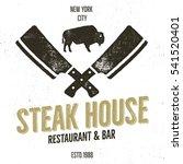 steak house vintage label.... | Shutterstock .eps vector #541520401