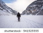 hiker walking away from camera... | Shutterstock . vector #541525555