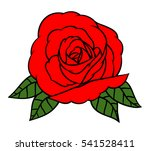 flowers roses  red buds and... | Shutterstock .eps vector #541528411
