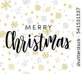 christmas greeting card  black... | Shutterstock .eps vector #541531537
