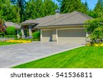 garage with long driveway.... | Shutterstock . vector #541536811