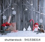 Christmas Interior With Snowma...
