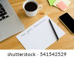 new year's resolutions on the... | Shutterstock . vector #541542529