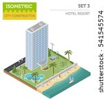 isometric resort hotel  and... | Shutterstock .eps vector #541545574