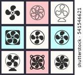 fan vector icons set.... | Shutterstock .eps vector #541546621
