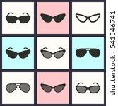sunglasses vector icons set.... | Shutterstock .eps vector #541546741
