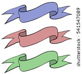 ribbon banners. colored hand... | Shutterstock .eps vector #541547089