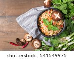 instant noodles with fresh... | Shutterstock . vector #541549975