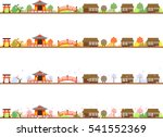 country landscape and four...   Shutterstock .eps vector #541552369