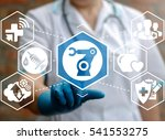 medical robot computing future... | Shutterstock . vector #541553275