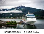 cruise ship at port in juneau ...