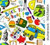 colorful school  pattern....   Shutterstock . vector #541556854