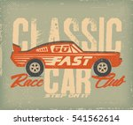 vintage drawing car  label ... | Shutterstock .eps vector #541562614