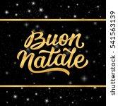 merry christmas italian...   Shutterstock . vector #541563139