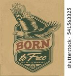 eagle. college sport tee... | Shutterstock .eps vector #541563325