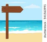 illustration of notice wood... | Shutterstock .eps vector #541563991