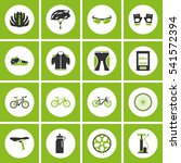 vector bicycle icon set. mono... | Shutterstock .eps vector #541572394