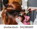 hairdresser working at the...   Shutterstock . vector #541580689