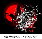 chinese dragon with wide open... | Shutterstock .eps vector #541582681