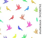 watercolors birds seamless... | Shutterstock . vector #541583761