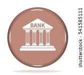 bank icon. internet button . 3d ... | Shutterstock . vector #541585111