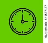 clock icon flat disign