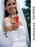 wedding bride holding her drink ... | Shutterstock . vector #5415904