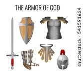 set of armor of god elements... | Shutterstock .eps vector #541591624