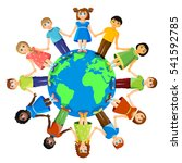communication around the world... | Shutterstock .eps vector #541592785