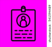 id card icon flat disign