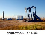 oil well and storage tanks in... | Shutterstock . vector #541603