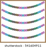 colored beads. garland. brown ... | Shutterstock .eps vector #541604911