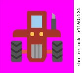 tractor icon flat disign