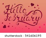 hand drawn lettering on pink...   Shutterstock .eps vector #541606195