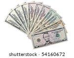 Dollar Bills Fanned