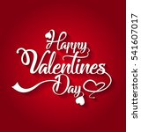 happy valentines day card. love ... | Shutterstock .eps vector #541607017