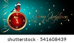 christmas card with golden... | Shutterstock .eps vector #541608439