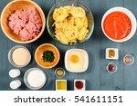 food ingredients for harissa... | Shutterstock . vector #541611151