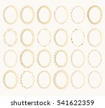 set of golden oval hand drawn... | Shutterstock .eps vector #541622359