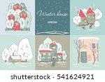 cute winter landscape | Shutterstock .eps vector #541624921