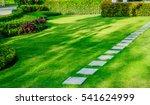 blurred image pathway in garden ... | Shutterstock . vector #541624999