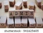 Small photo of Admin Word In Wooden Cube