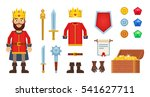 big set of cartoon king... | Shutterstock .eps vector #541627711