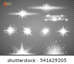 set white glowing light burst... | Shutterstock .eps vector #541629205
