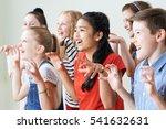 group of children enjoying... | Shutterstock . vector #541632631