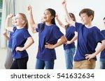 group of children enjoying... | Shutterstock . vector #541632634