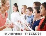 children in school choir being... | Shutterstock . vector #541632799